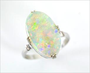 オパール 指輪